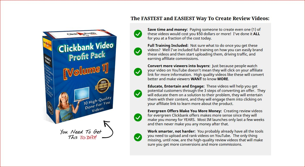 Clickbank Video Profit Pack