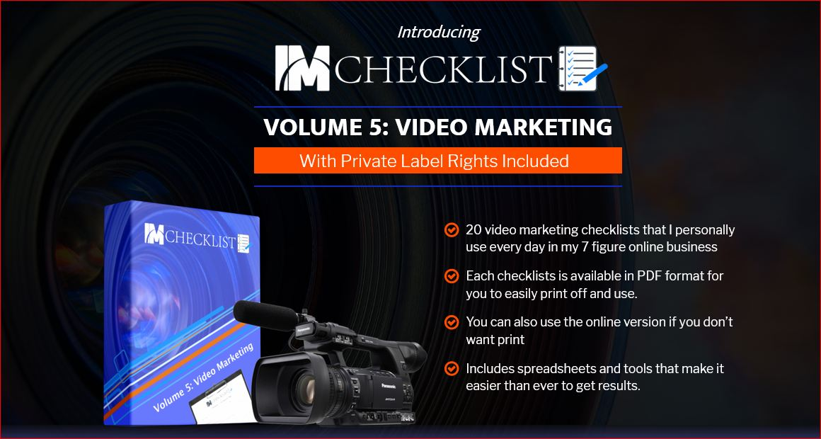 IM Checklist Volume 5 Video Marketing Review