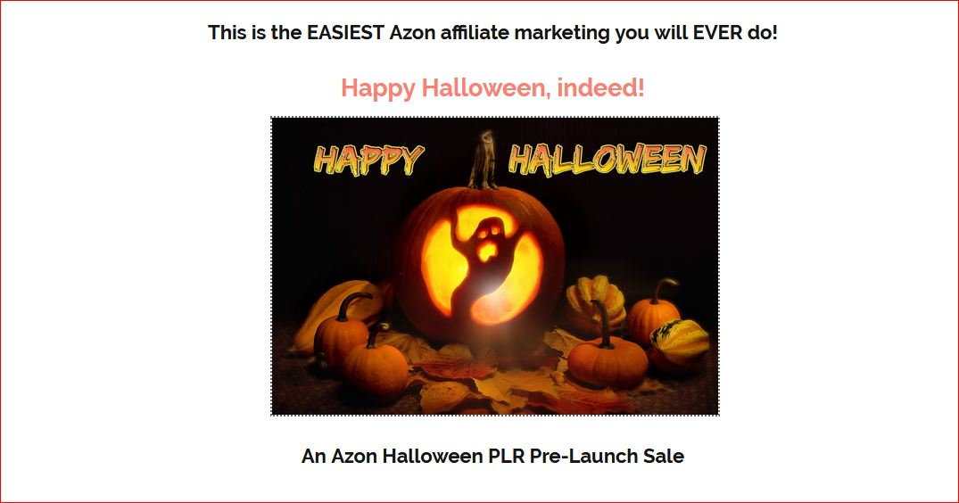 An Azon Halloween PLR Review