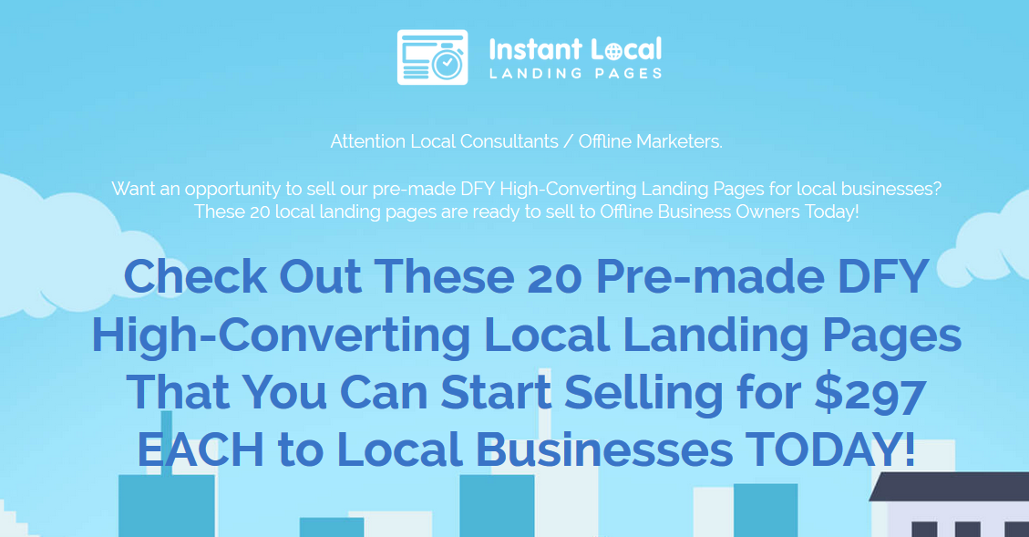 Instant Local Landing Pages Review