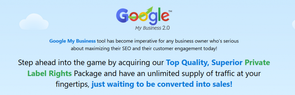 Google My Business 2.0 with PLR REVIEW